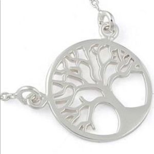 """Sterling silver tree of life pendant  16"""" necklace"""
